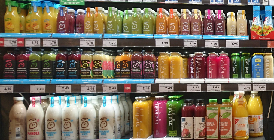 "Smoothie Regal im Supermarkt mit ""Sun Creamie"""
