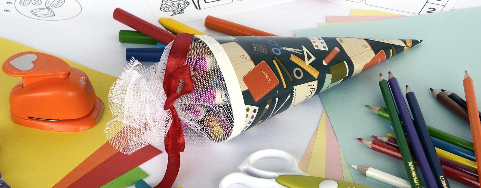 Symbolbild Schulanfang mit Schultüte