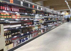 Lidl Metropolfiliale - Alkohol Sortiment