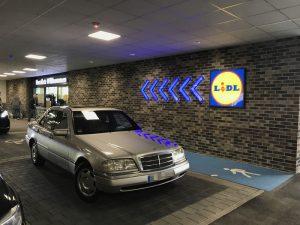 Parkplätze Lidl Metropolfiliale