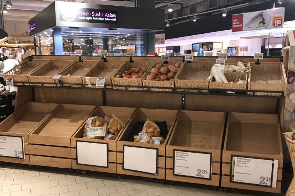Kartoffeln sind Mangelware nach den Hamsterkäufen, Angst vor Corona-Virus