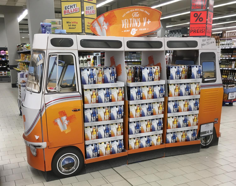 In-Store Promotion von Veltins: Die Biermarke setzt im Sommer 2020 auf den Camper