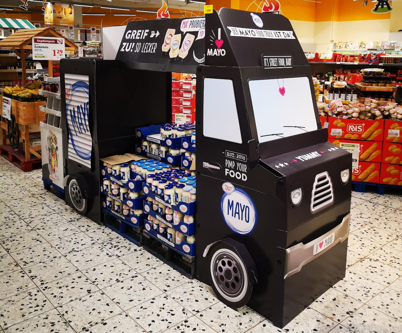 Ein Food-Truck kommt bei Mondelez International als In-Store Promotion zum Einsatz.
